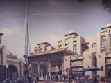 old town at burj dubai poster